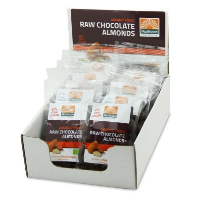 Mattisson Amandelen snack raw puur choco 35 gram