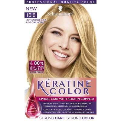 Schwarzkopf Keratine color haarverf 10.0 licht natuurlijkblond