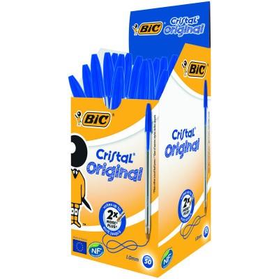 BIC Cristal pennen blauw doos