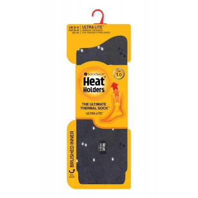 Heat Holders Mens ultra lite socks micro charcoal 6-11