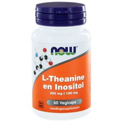 NOW L-Theanine 200 mg met Inositol 100 mg