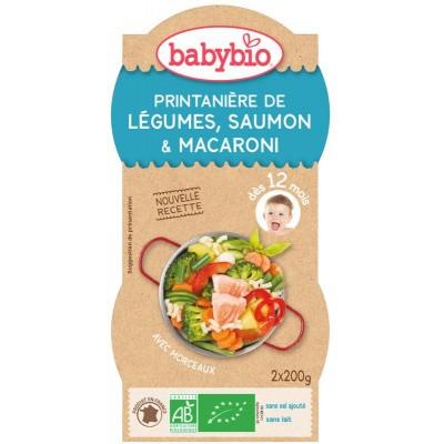 Babybio Groenten zalm pasta 12 maanden 200 gram