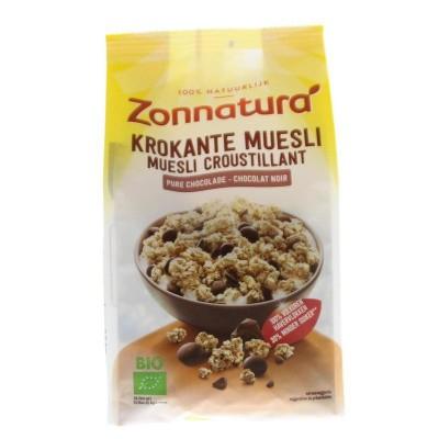 Zonnatura Krokante muesli haver pure chocolade