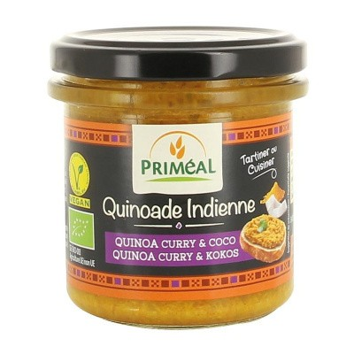 Primeal Quinoade spread Indian style quinoa, curry & kokos