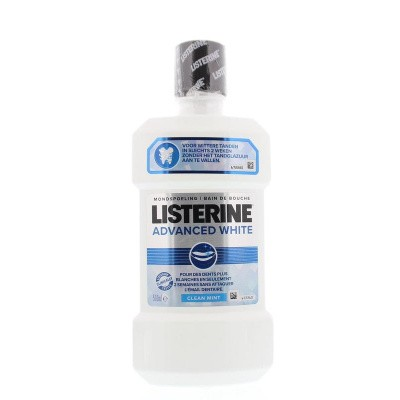Listerine Mondwater advanced white