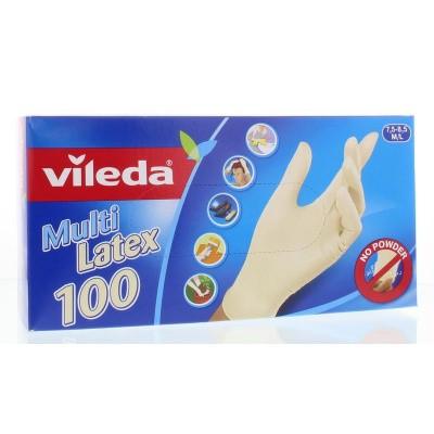 Vileda Wegwerphandschoenen multi latex m/l poedervrij