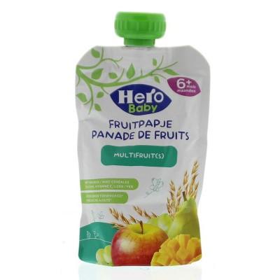 Hero Baby fruitpap granen/multi fruit 6M+