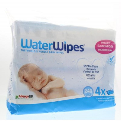 Waterwipes Babydoekjes 4 x 60 stuks