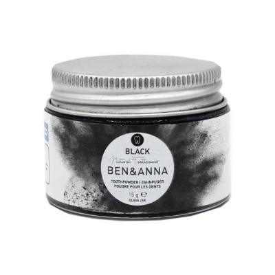 Ben & Anna Tandpoeder zwart active charcoal