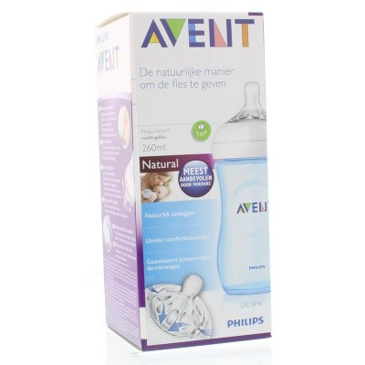 Avent Zuigfles natural blauw