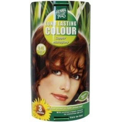 Henna Plus Long lasting colour 6.45 copper mahogany