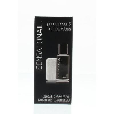 Sensationail Gel cleanser & lint free wipes