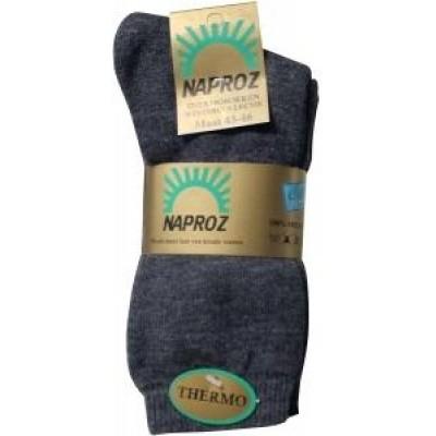 Naproz Thermo sokken 43-46 grijs
