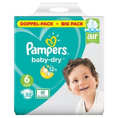 Pampers Baby dry luiers maat 6 doppelpack