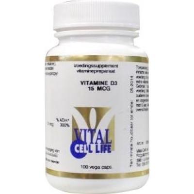 Vital Cell Life Vitamine D3 15 mcg