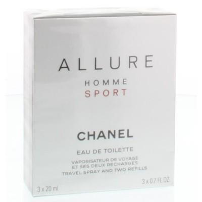 Chanel Allure sport giftset 3 x 20 ml