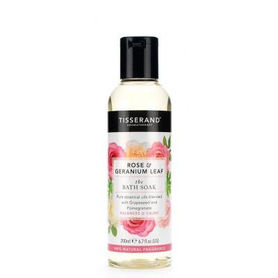 Tisserand Bath soak rose geranium leaf