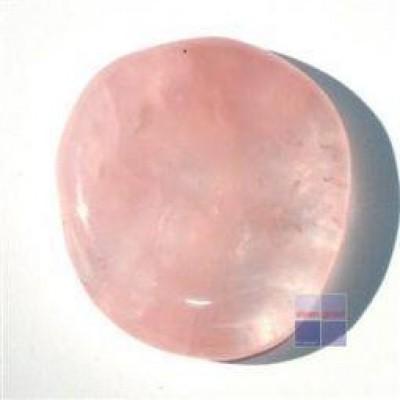 Steengoed Platte stenen roze kwarts