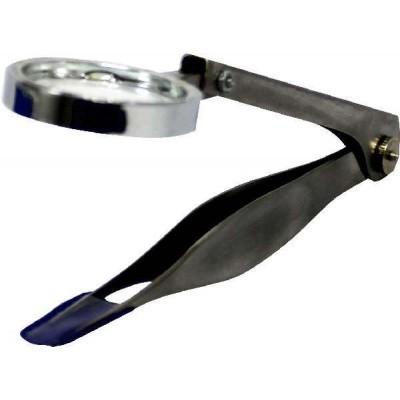 Mainit Pincet splinter RVS 9 cm + loep