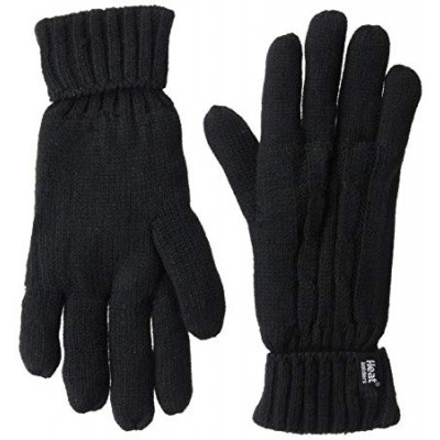 Heat Holders Ladies cable gloves M/L black