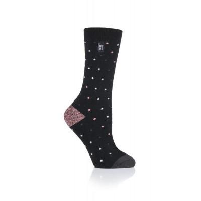 Heat Holders Ladies ultra lite socks berry black 4-8