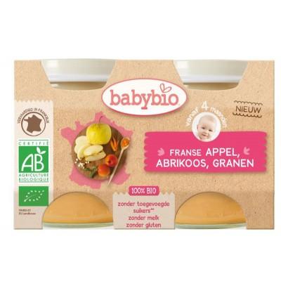 Babybio Dessert appel abrikoos granen 130 gram