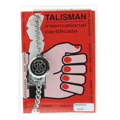 Sos Talisman SOS armband RVS compleet man