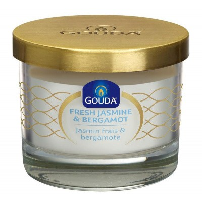 Gouda Gevuld glas satijn wit/jasmine bergamot 66/80