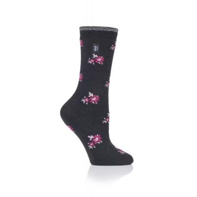 Heat Holders Ladies ultra lite socks bellis charcoal 4-8