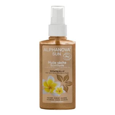 Alphanova Sun Sun dry oil spray glitter bio