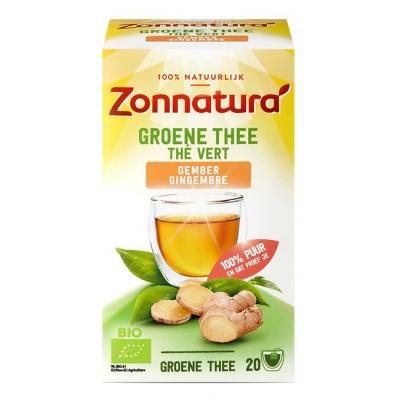 Zonnatura Groene thee gember bio