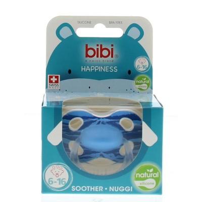 Bibi Fopspeen happiness wild baby 6-16 maanden blauw