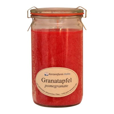 Kerzenfarm Geurkaars weckglas granaatappel