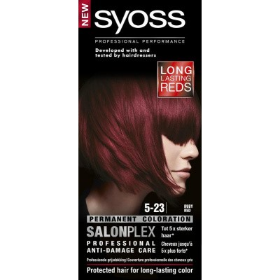 Syoss Color baseline 5-23 ruby red haarverf