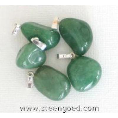 Steengoed Groene kwarts hanger