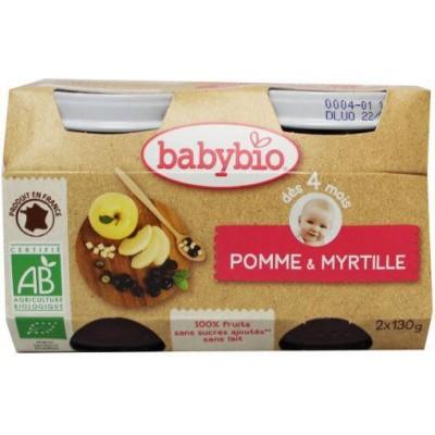 Babybio Dessert appel bosbes 130 gram