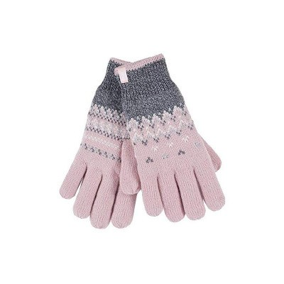 Heat Holders Ladies cable gloves M/L Trondheim coral