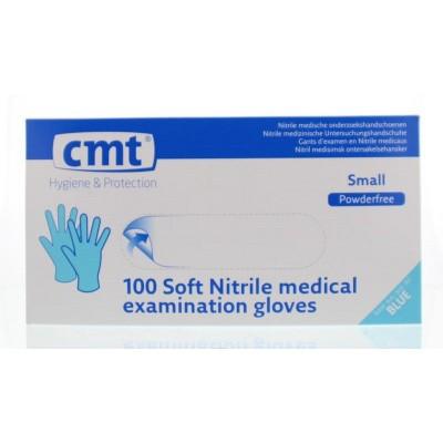 CMT Onderzoekhandschoen nitriel soft blauw poedvr S