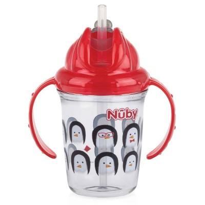 Nuby Antilekbeker 240 ml rood 12 maanden +