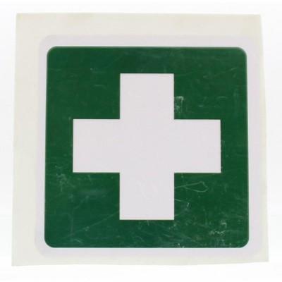 Heka Sticker groen wit kruis