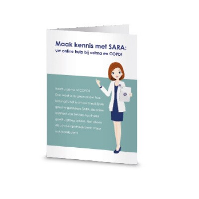 Service Apotheek Flyer maak kennis met sara