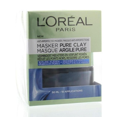 Loreal Masker pure clay blue