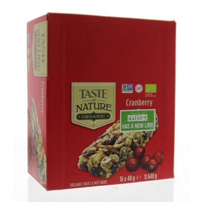 Taste Of Nature Cranberry granenrepen