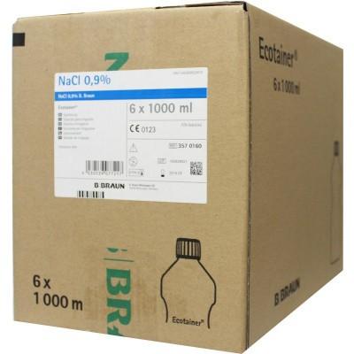 Braun Medical Spoelvloeistof nacl 0.9% ecotainer 1000 ml
