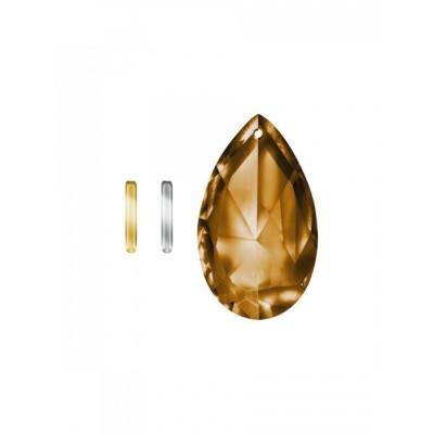 Lichtwesen Kristal stabil drop clip verguld