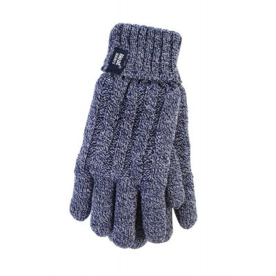 Heat Holders Ladies cable gloves M/L navy