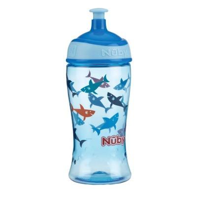 Nuby Pop-up beker 360 ml blauw 3 jaar+