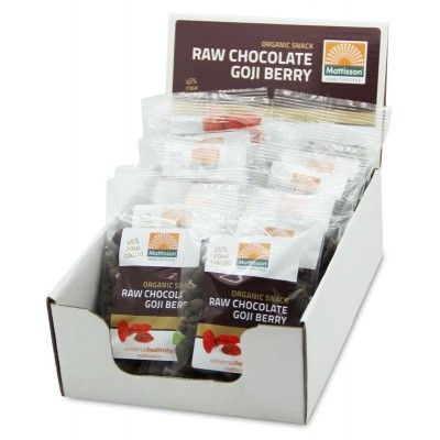 Mattisson Goji snack raw choco 35 gram