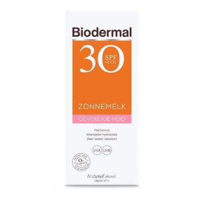 Biodermal Zonnemelk SPF30 gevoelige huid