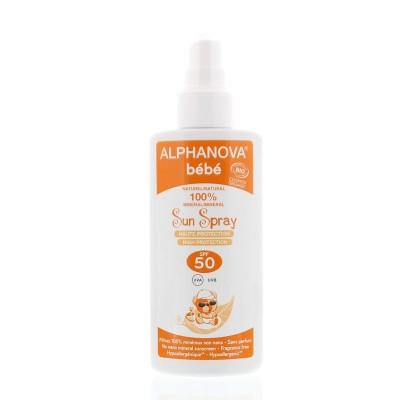 Alphanova Sun Sun zonnebrand creme SPF50 baby zonder parfum